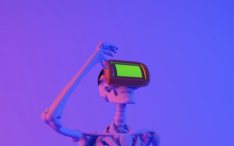 watching life dead  - C4D, artdaily - luisagolden | ello