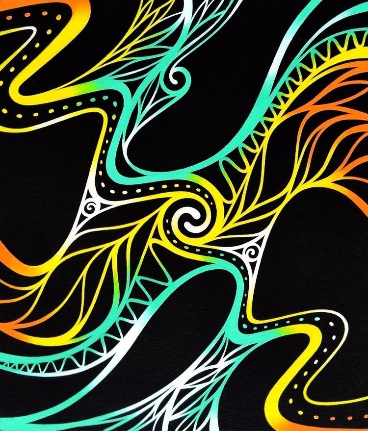 painting. tempera black paper.  - natasha_sedyakina | ello