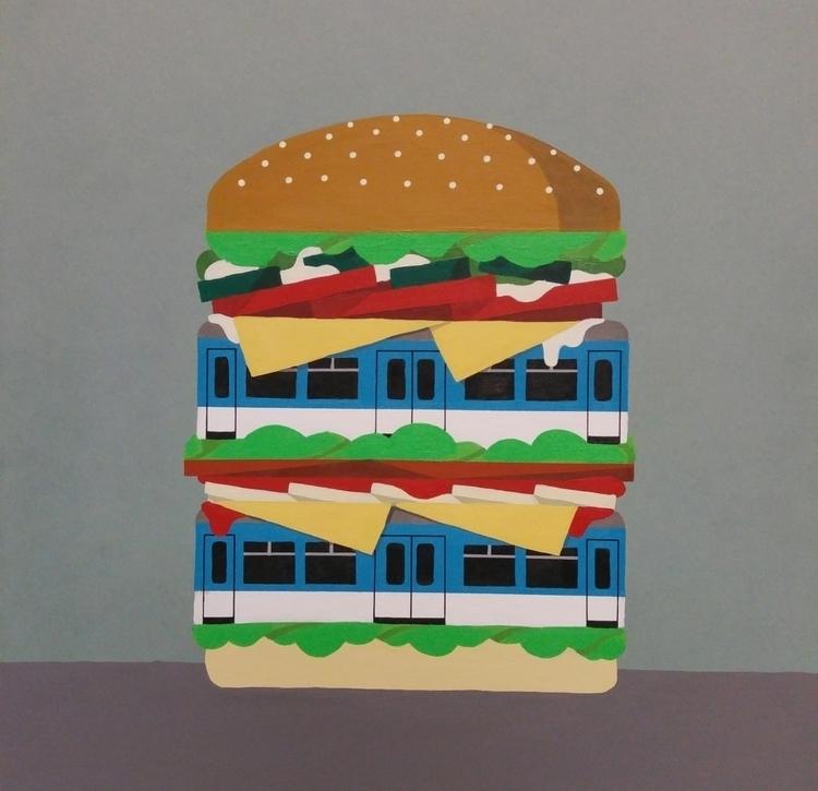 painting, 40 50 cm, acrylic pap - chrisversteeg | ello