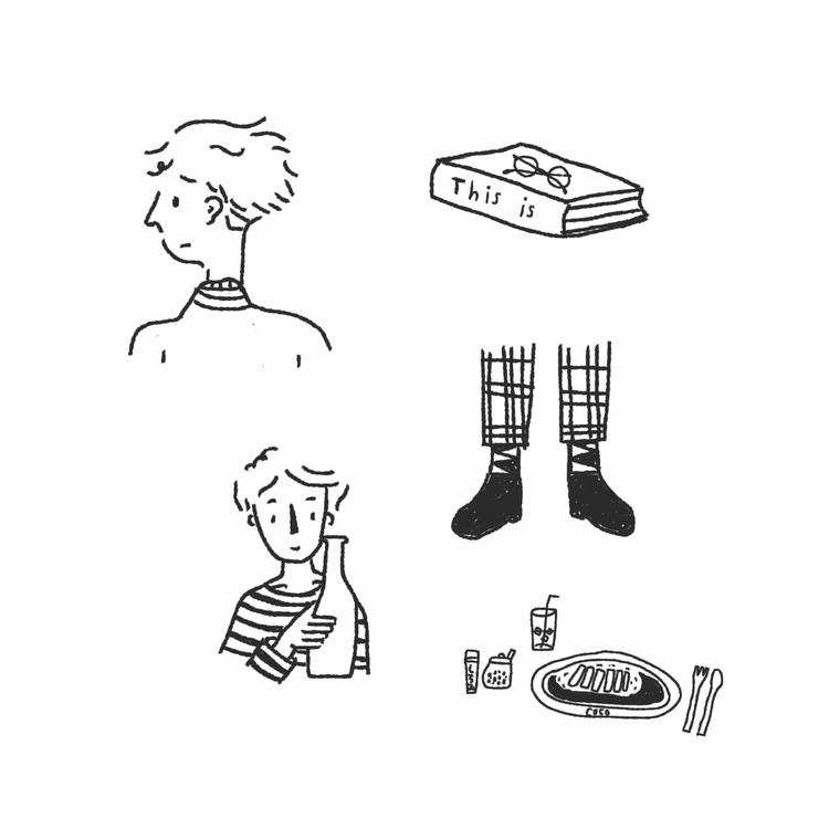 illustration, doodle, boy - mynt_c | ello