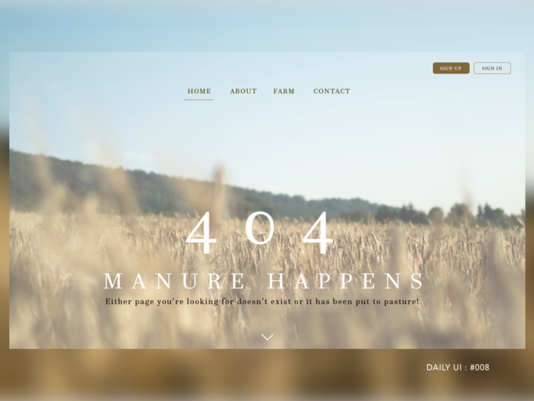 DAILY UI CHALLENGE 100 DAYS 404 - noelleg | ello