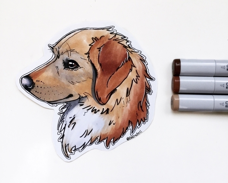 art, copic, fabercastell, dog - casrakell | ello