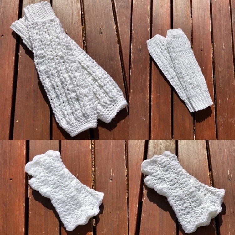 Pink white leg warmers gloves - smallbiz - kshandmadelove | ello