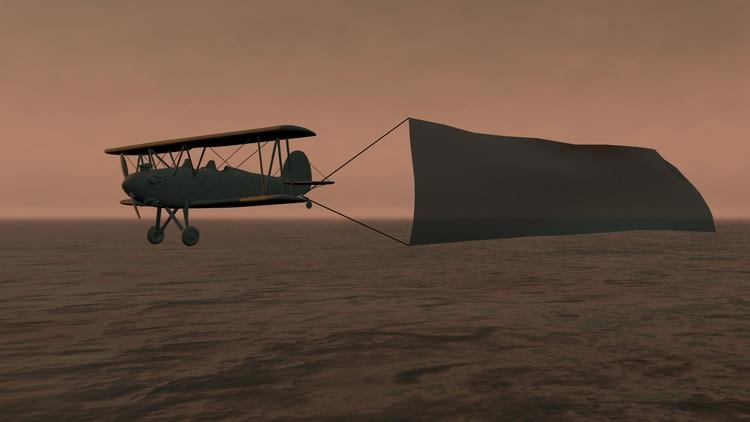 Aerial advertising banner Sky R - 3dsk | ello