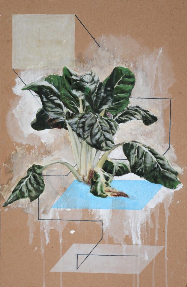 Goms Oil cardboard 2015 - daviddiehl | ello