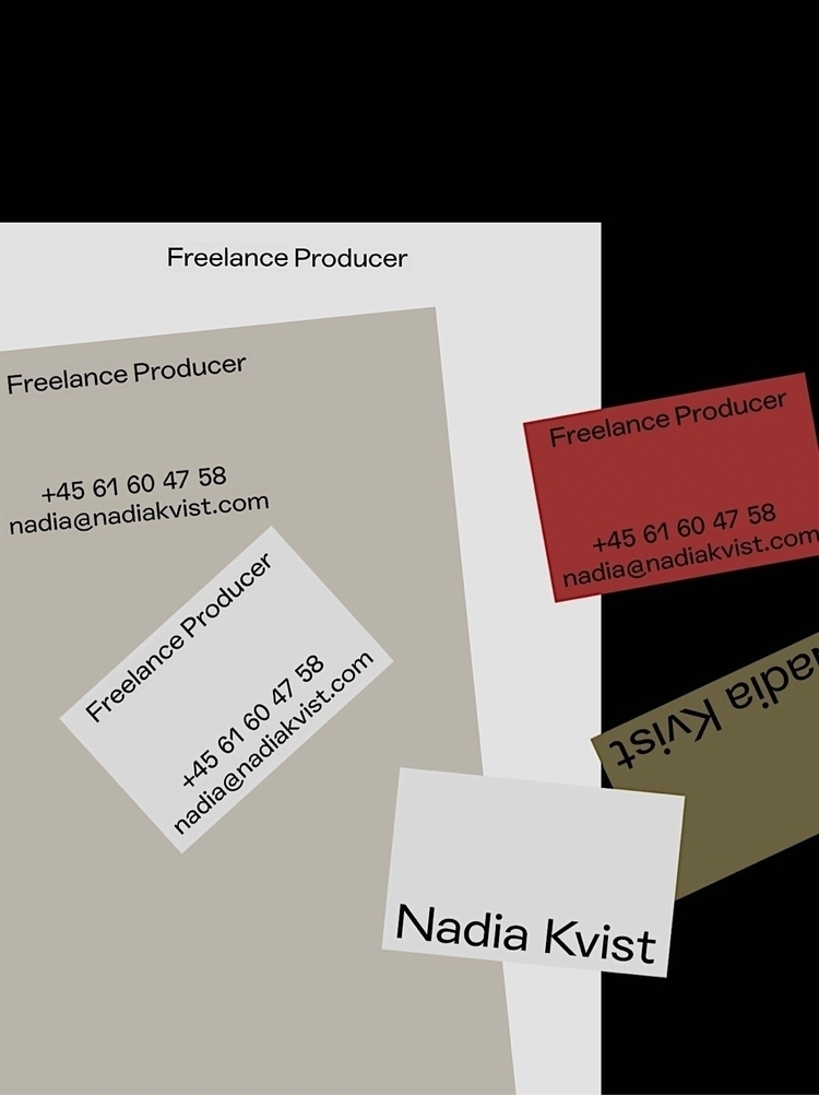 Small Identity — Nadia Kvist - studiospgd | ello