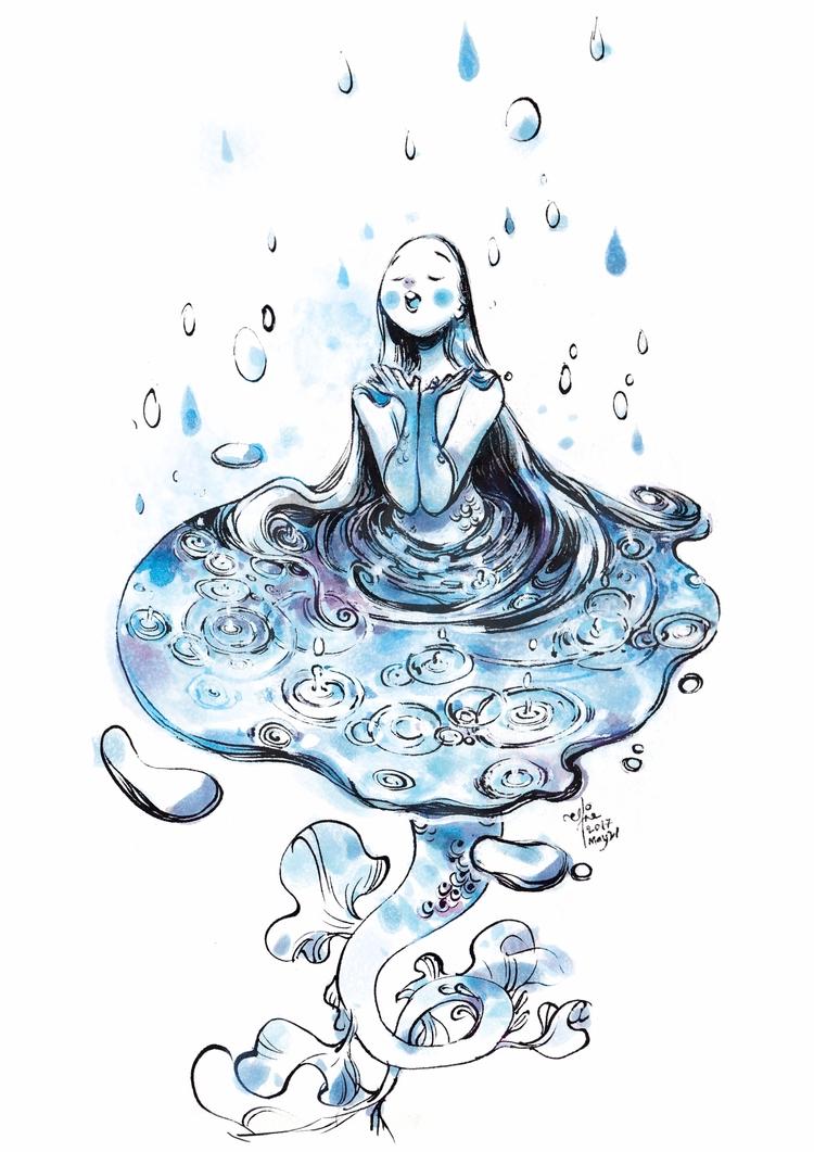 Raindrops falling head ~ - mermay - sillyjellie | ello