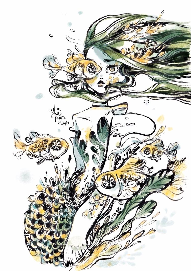 spy, eye - mermay2017, watercolour - sillyjellie | ello