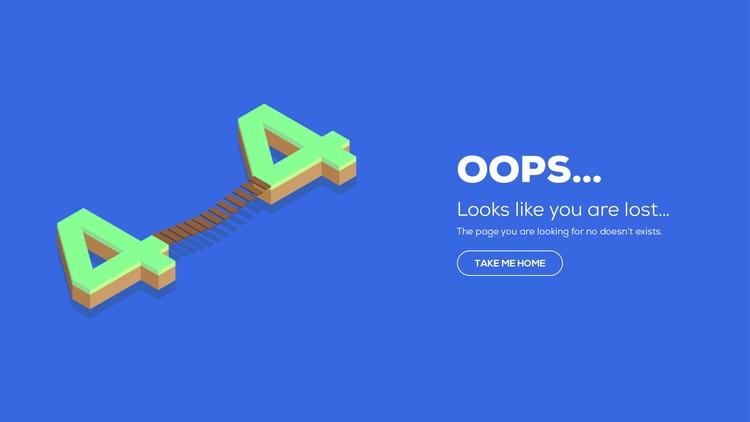 404, notfound, uxdesign, graphicdesign - remi_preher | ello