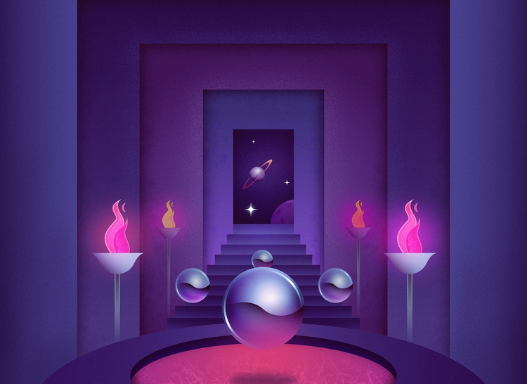 Enter Exit - retrofuturism, retrowave - filianstudio | ello