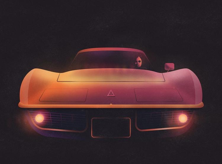 Neon Corvette - corvette, racing - filianstudio | ello