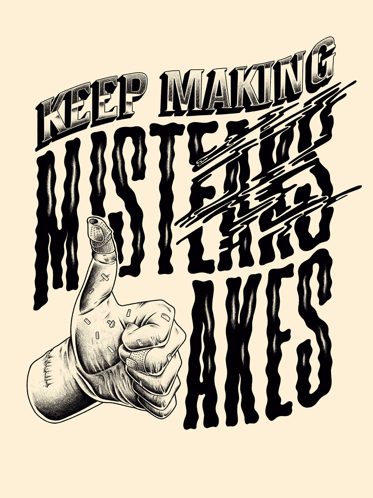 Making Mistakes - illustration, drawing - jferreirastudio | ello