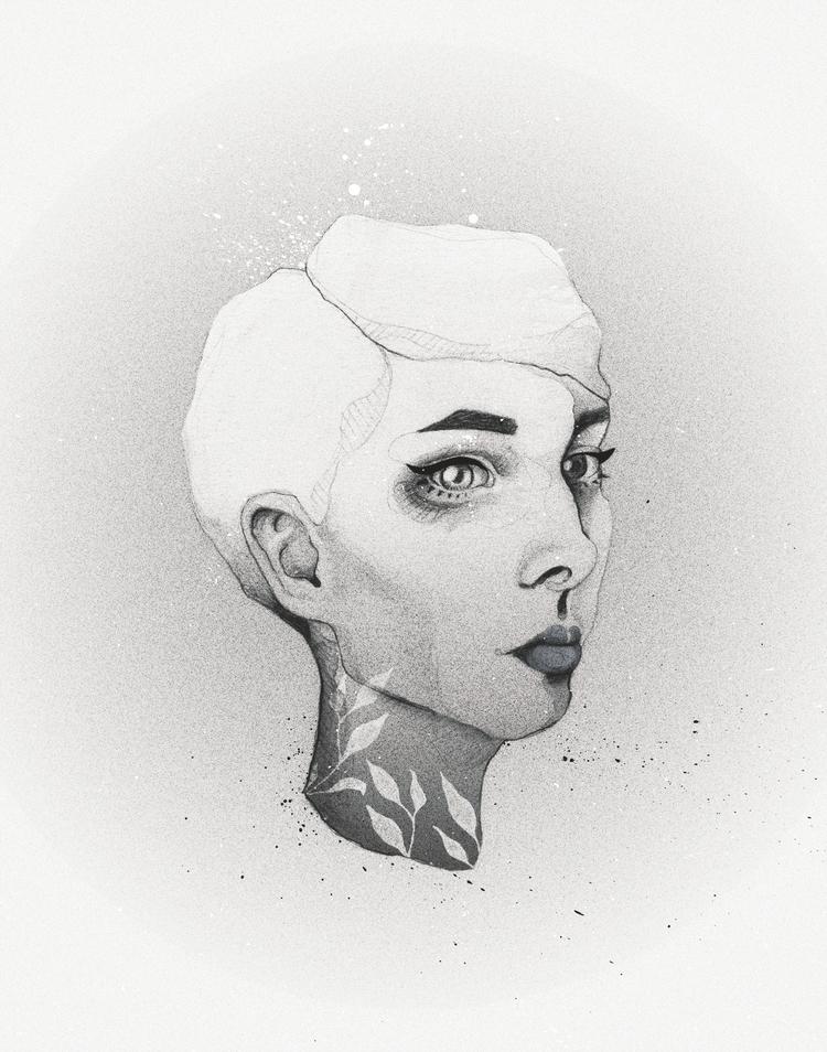 Face Study - 1, illustration, handdrawn - heyinstigator | ello
