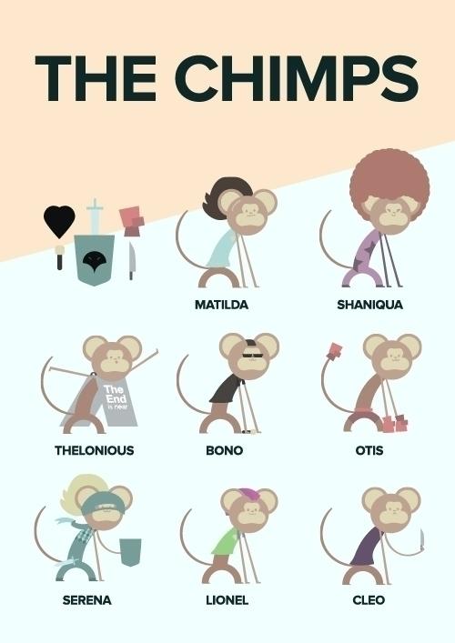 chimps, vector, art, knight, punk - toasttheheart | ello