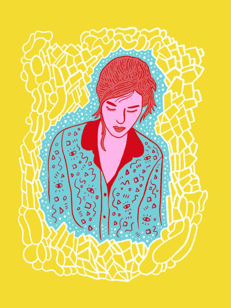 glass - illustration, illustrator - heybop | ello