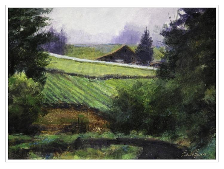 Vineyard Rainy Mist. Acrylic Pa - artharmonics | ello