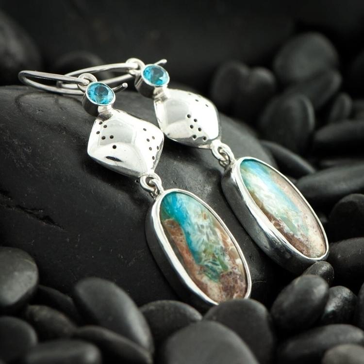 Peruvian Opals accented blue To - pepperbushjewelry | ello