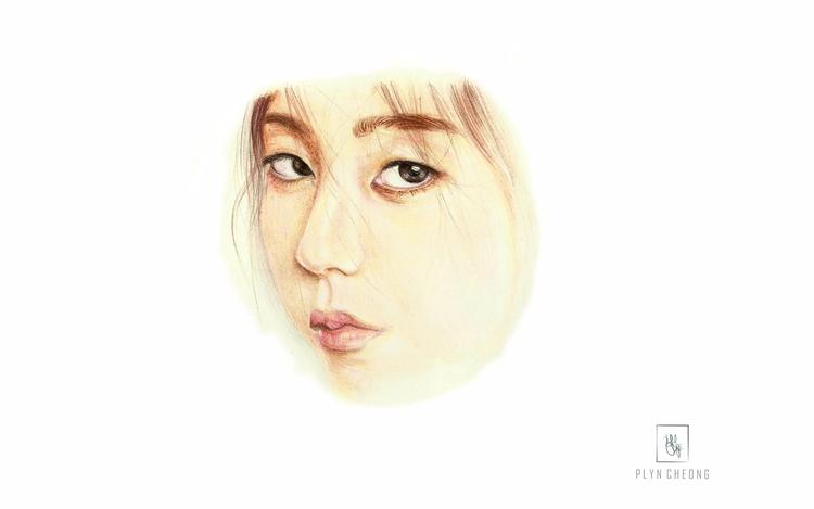 Portrait Sohee - ahnsohee, colouredpencil - plyncheong | ello