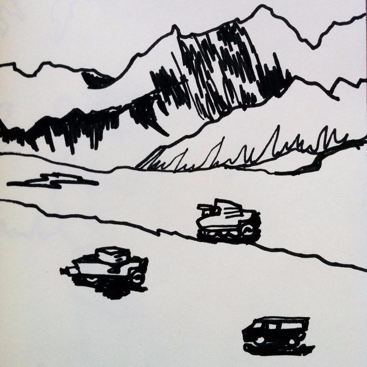 sketchbook page, response photo - roth- | ello