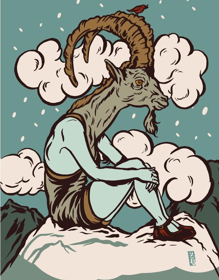 High Altitude Chillin - illustration - thomcat23 | ello