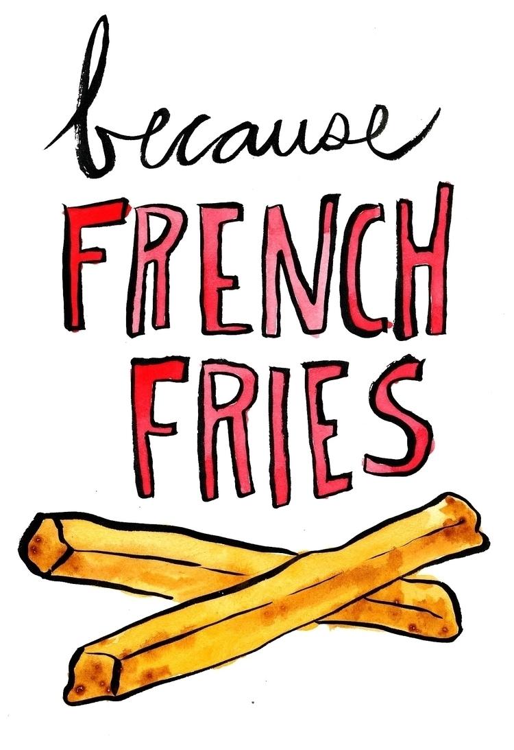 french fries - handlettering, illustration - reneeleigh | ello