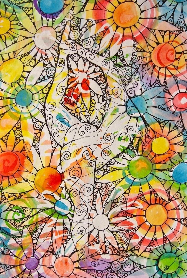 stretch today ? LOVE - YOGA, daisies - arnabaartz   ello