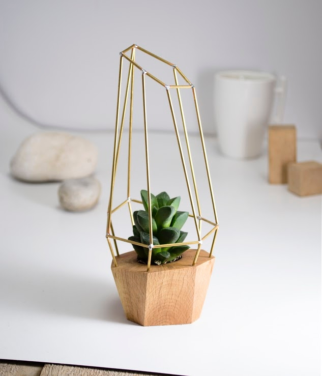 Geometric Wooden Planter RawOri - letsdesigndaily | ello