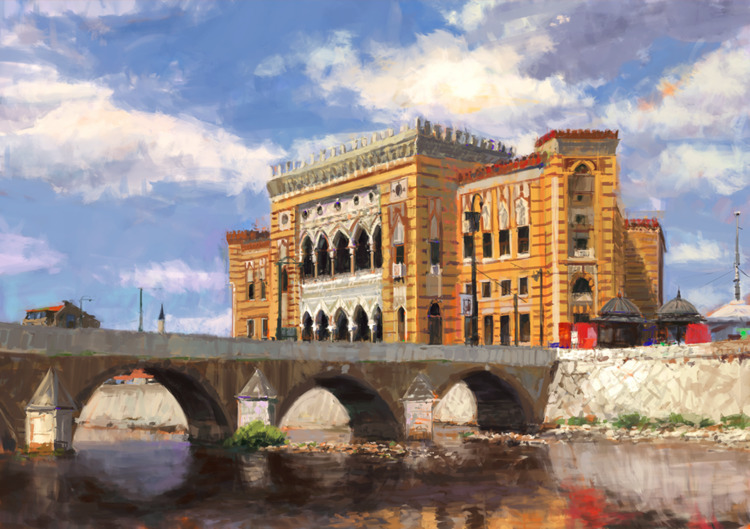 Symbol Sarajevo Painting, photo - mujkicharis | ello