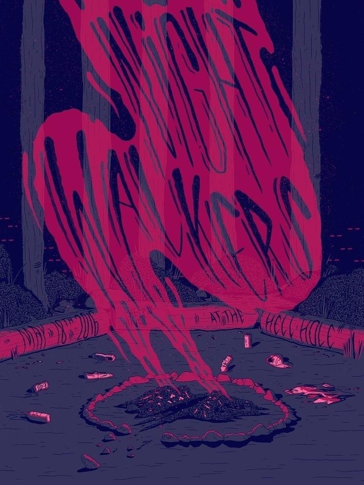 Night Walkers - illustration, gigposter - jefflowryillo | ello