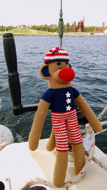 Happy Lucky Stars Stripes Monke - miniaturemonkeycreations   ello