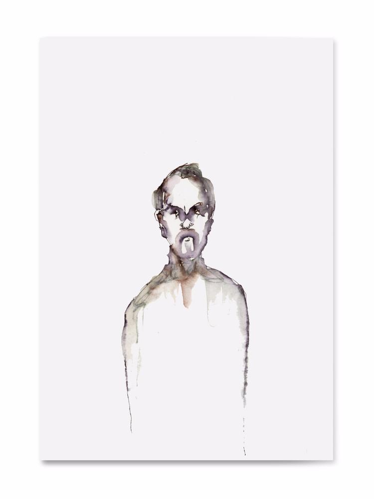Green - sketch,, penink,, art,, man, - 100realpeople | ello