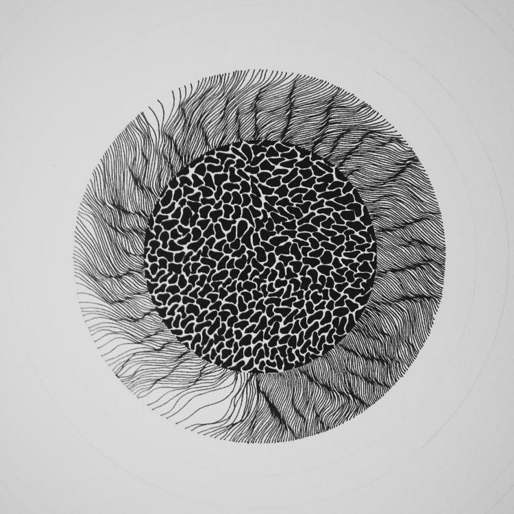 wip.  - art, blackandwhite, texture - thelineguy | ello