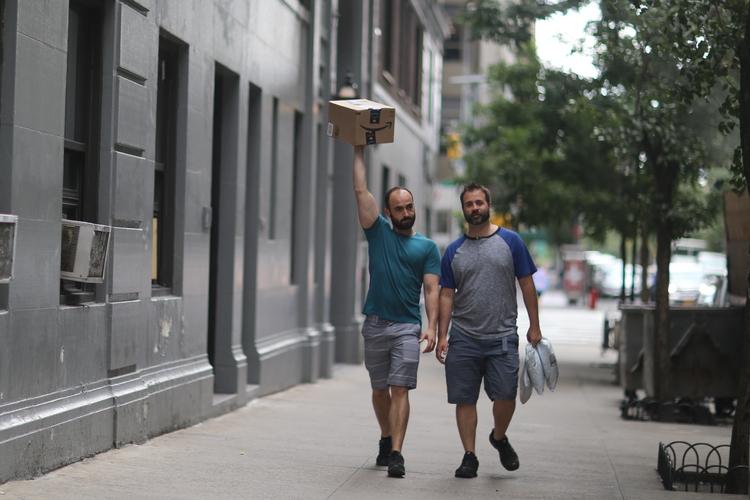 **Box couple guys walking 47th  - kevinrubin | ello