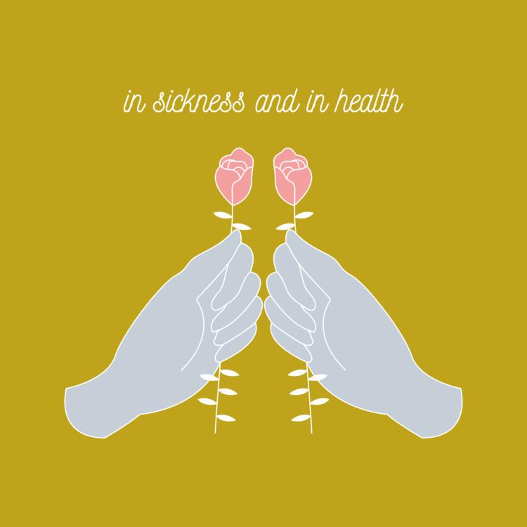 sickness health:rose - illustration - xeezles | ello