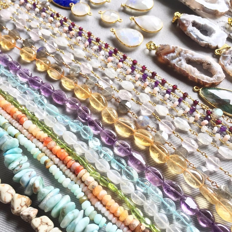 crystal, crystals, beads, jewelry - fawinginlove | ello