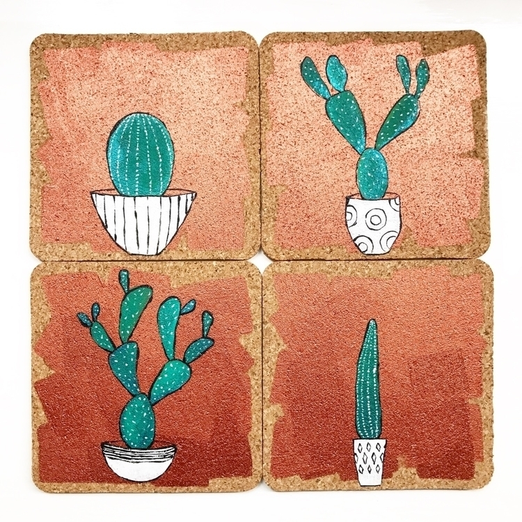 painting coasters! love origina - highyieldstudio | ello