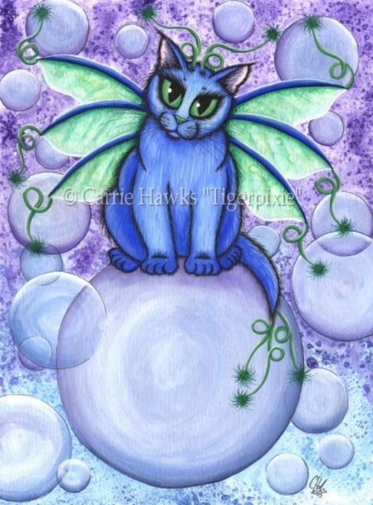 Favorite Bubble Fairy Cat Print - tigerpixie | ello