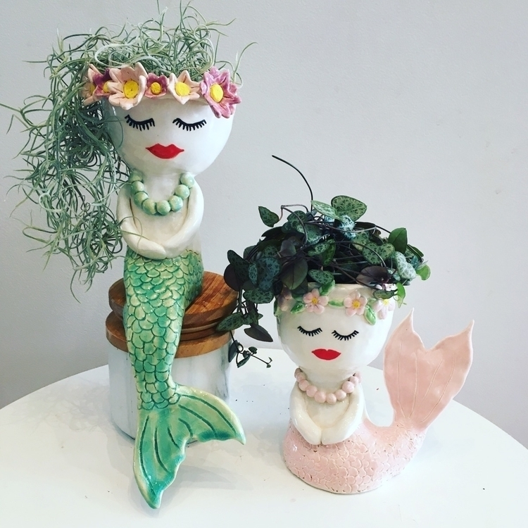 ceramic mermaid planters - planter - livingdecortwins | ello
