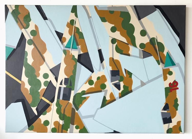Mig Mess, acrylics canvas, copy - chrisversteeg | ello