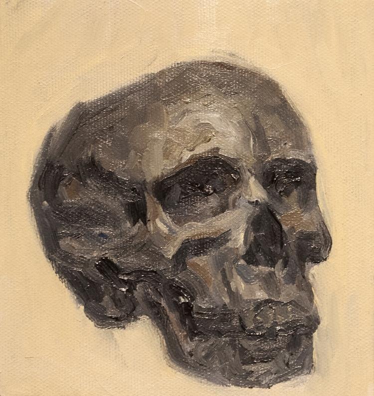 Skull Study / Oil Canvas 15 16  - armandocabba   ello