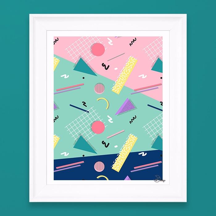 Dreaming 80s Pattern funny seam - designdn | ello