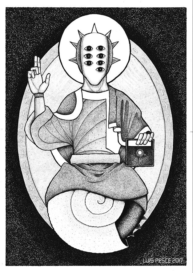 03 - Pantocrátor - art, robot, illustration - luispesce | ello