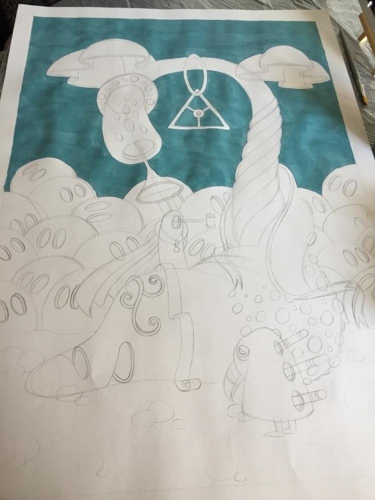 Preparing - art, wip, painting, surrealism - jimmy-p | ello