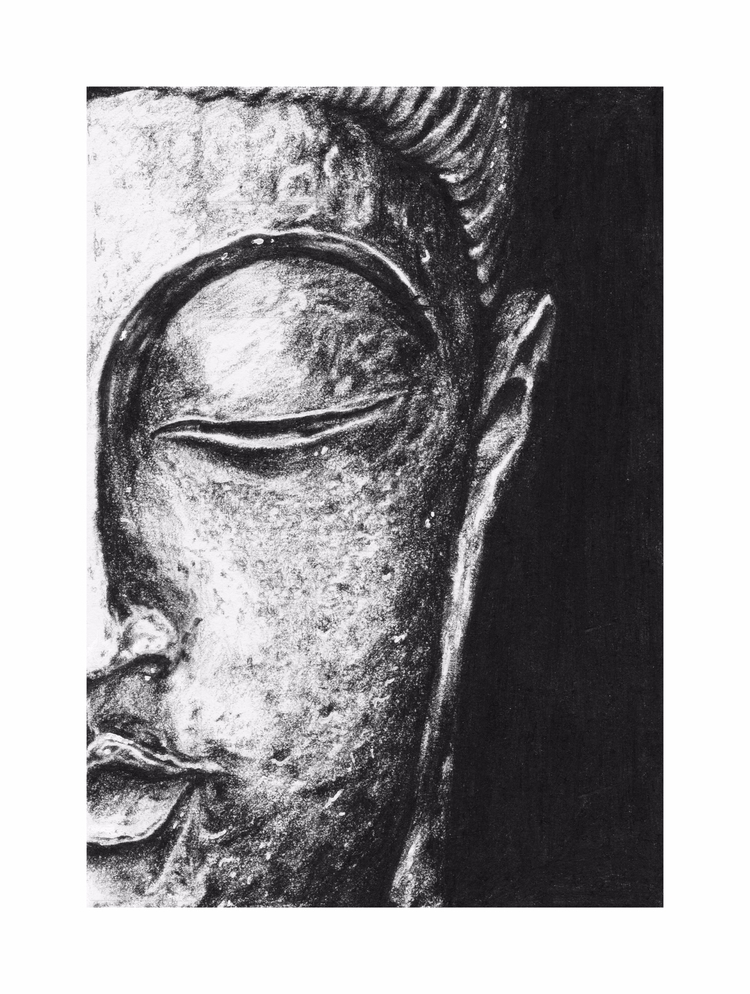 Gautama Buddha. Charcoal paper - goragorskiy | ello
