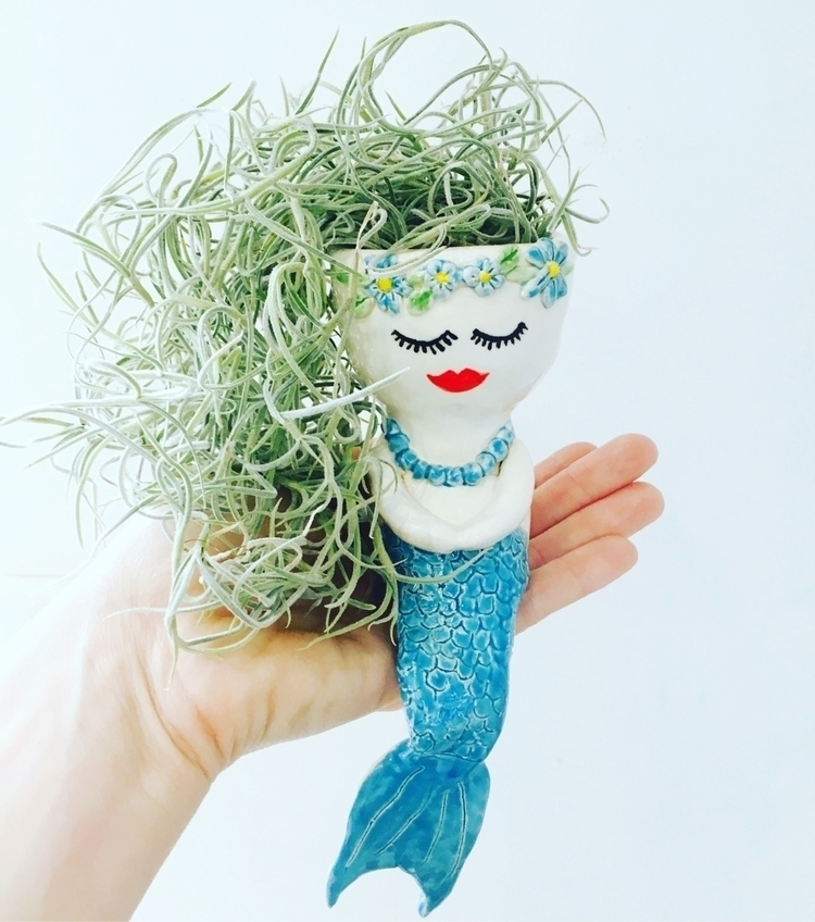 added mermaid planter shop - pottery - livingdecortwins | ello