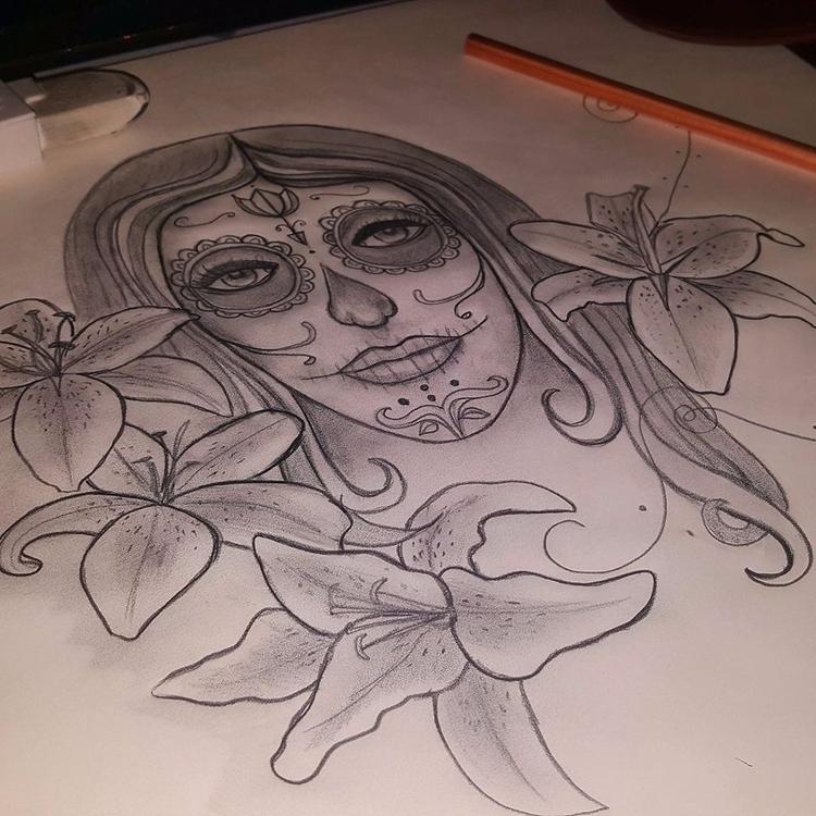 Sketching. illustrative design - lizzywhothefunkc | ello