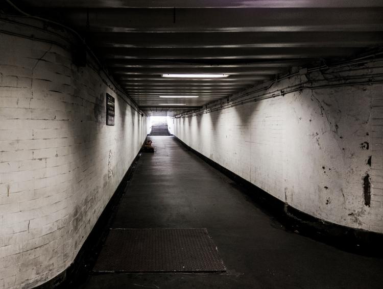 homeless light tunnel - London, streetphotography - notabene   ello