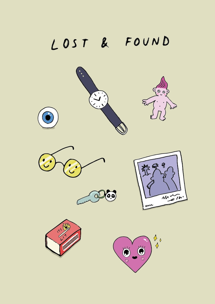 lost  - illustration, minimal, cute - anzooo | ello