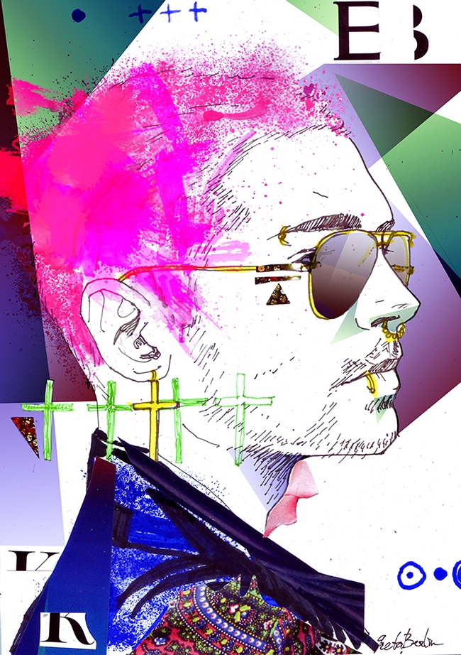 1. Bill Kaulitz portrait (colla - gretaberlin | ello