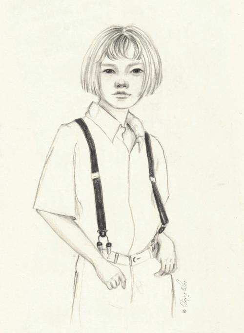 doodle, drawing, suspenders, fashion - j0eyg1rl | ello